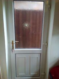 WHITE UPVC EXTERNAL DOOR PLUS FRAME