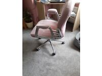 HOME OFFICE CHAIR PINK VELOUR
