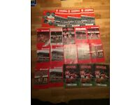 19 Arsenal programmes, mostly from the 1970's
