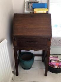 Antique 1930s bureau writing desk