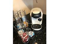 Tassimo coffee machine & 2 pod holders