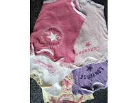 baby girl converse vests x5 new 6-9 months