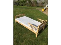 Toddler/child bed in light wood