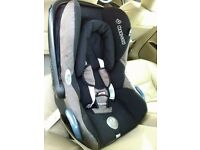 Maxi-cosi carbofix baby car seat with isofix base