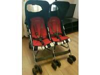Maclaren twin triumph double buggy