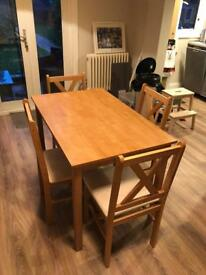 FOR SALE: Ava Solid Oak Dining Table & 4 Chairs
