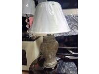 Beautiful Vintage Style Gold Mosaic Table Lamp With White Shade