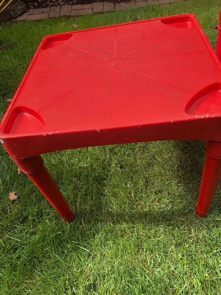 2 small kids red tables leicester