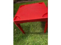 2 small kids red tables