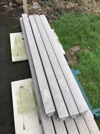 4 brand new 6ft concrete fencing posts