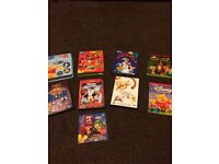 BUNDLE OF DISNEY DVDS, SING-ALONG CDS,BOOKS & SMALL FIGURES WINNIE THE POOH, LION KING, MICKEY MOUSE