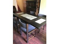 Dansk oak dining room table and 4 chairs