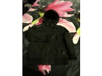 Boys black winter coat 5-6 yrs