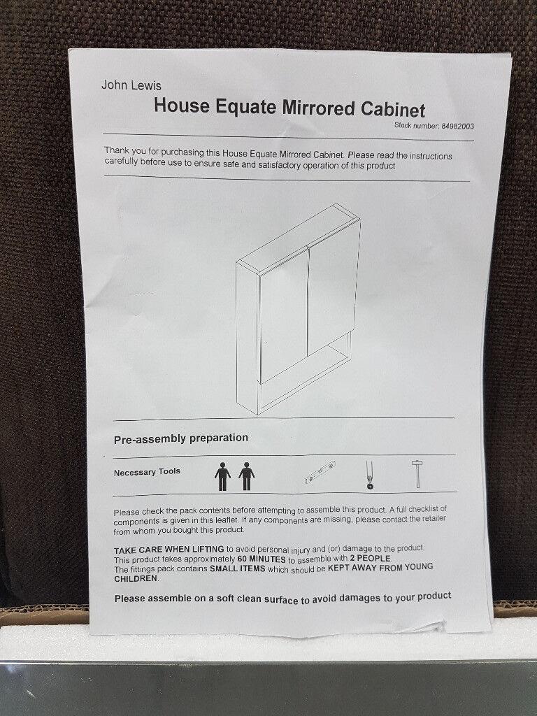 Mirrored Bathroom Cabinet by John Lewis RRP £95