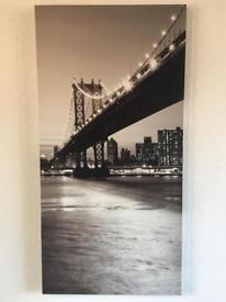 Wall canvas excellent condition New York Brooklyn Bridge