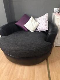 Swivel black grey sofa for sale