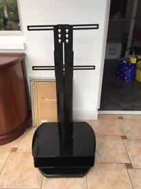 Black Metal TV Stand