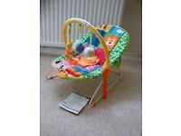 Chad Valley Rainbow vibrating and musical bouncer (2)