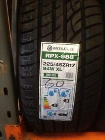 SALE THIS WEEK ONLY! 225/45ZR17 94W XL ROVELO RPX-988 ONLY £60 EACH!