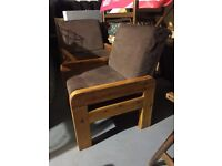 Pair of vintage style armchairs