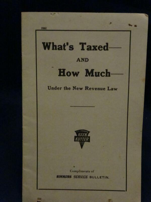"WWI Keen Kutter Simmons Service War Bulletin ""What"