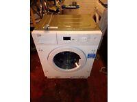 beko intergrated washer new