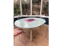 Dining Table with glass top foc to anyone who can collect from my address