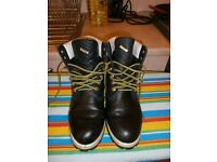"""Mens Black Smooth Timberland 6"""" Premium Waterproof Winter Boots Size 9."""