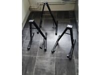 Guitar Stand Foldable Universal A-Frame Style Guitar Stand Black for Acoustic and Electric Guitars