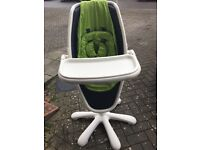 Mamas and papas high chair - Lime Green and white