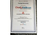 Check a trade member painting, decorating, plastering.