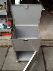 Metal cabinet on wheels