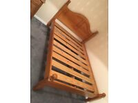 Pine double bed frame/base