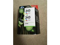 double pack HP ink cartridge 343 tri colour