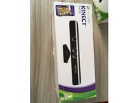 XBOX 360 Kinect, hardly used comes boxed with a Kinect Adventures game