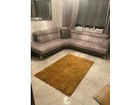DFS Iconica leather corner sofa