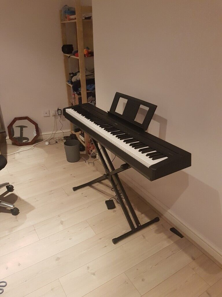 Yamaha P45 Digital Piano With Stagg Kxs A6 Double Braced X