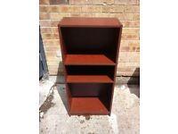 Dark wood small deep bookshelf