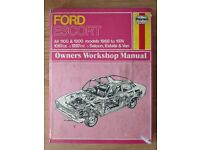 Retro car books! Haynes Manuals 1968-74 and 1975-80 Ford Escort, 1989-91 Fiesta, AA Book of the car