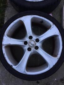 Set of 4 alessi wheels with tyres! 17 inch/vw
