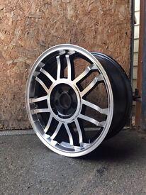 "17"" BLACK & POLISH STYLED WHEELS AUDI MK1 TT,VW GOLF MK4, BEETLE,TOYOTA,CHRYSLER"
