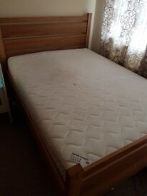 Double bed with matres for sale
