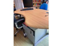 Curved office desk