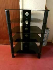 Black glass hifi stand