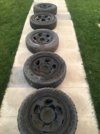 Toyota hilux steel wheel with tyres