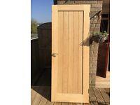 Howdens Genoa Oak Veneer Door including handle & Hinges