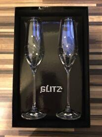 Dartington Crystal Glitz champagne flutes