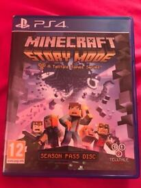 mincraft story mode season pass, episodes 1-5 game for the ps4