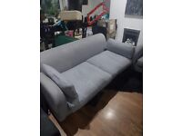 Sofa 2 x 3 seaters in good condotion grey very comfy