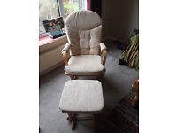 Dutailier Maternity Nursing Gliding Rocking chair with footstool